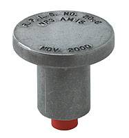 "2"" Flat Aluminum Sure-Grip Insulated Rebar Caps"